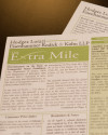The Extra Mile Newsletter